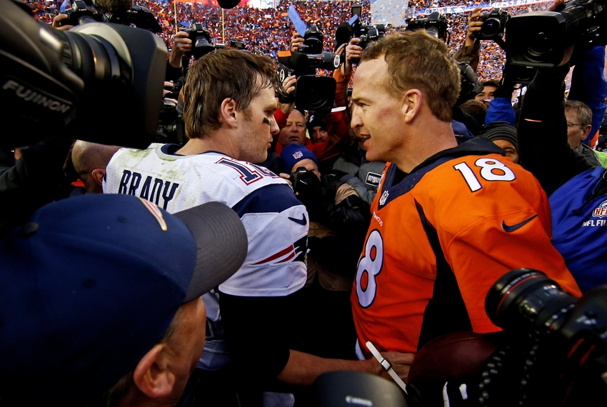 peyton manning vs tom brady essay Week 12 in the nfl always means teams fighting for their playoff lives, but this time around it's got something special: peyton manning against tom brady on.